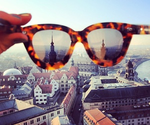 city, sunglasses, and style image