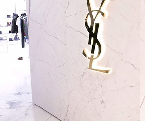 YSL, gold, and Yves Saint Laurent image