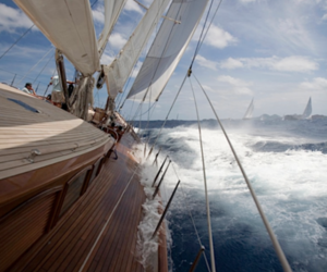 sea, sailing, and boat image