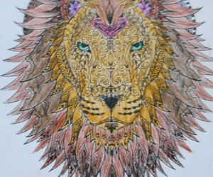 coloring, draw, and lion image