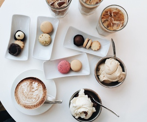 food, coffee, and ice cream image