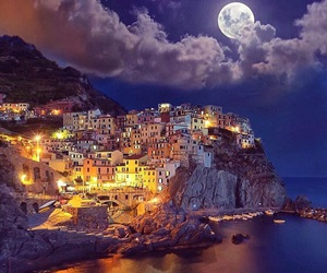 italy, moon, and night image