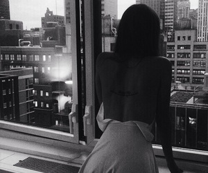 girl, city, and tattoo image