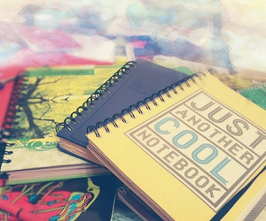 books, dots, and exam image