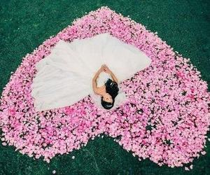 heart, wedding, and dress image