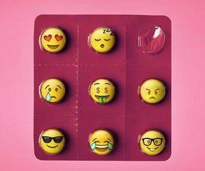 pills, pink, and emoji image