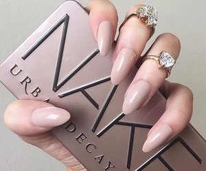 beige and nail image