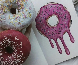 art, donuts, and good image