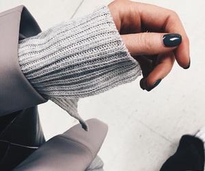 fashion, nails, and grey image