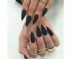 nails, black, and beautiful image