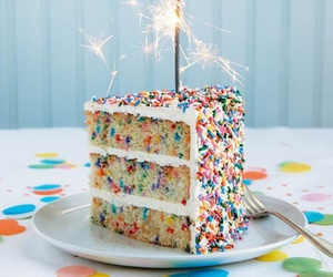 cake, birthday, and food image
