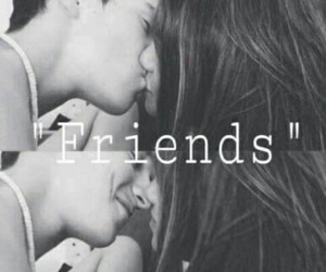 blackandwhite, emotions, and friends image