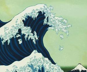 waves, rabbit, and art image