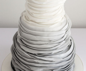 wedding, cake, and grey image