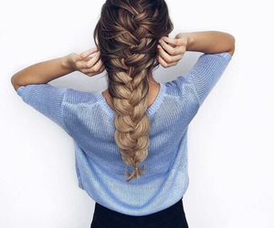 blond, love, and braid image