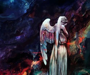 doctor who and weeping angel image