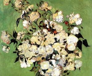 art, flowers, and vincent van gogh image