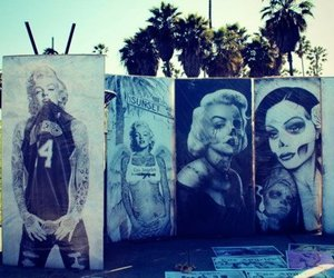 art, graffiti, and Marilyn Monroe image