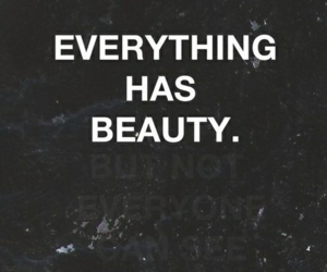 beauty and can you see? image