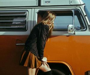 girl, orange, and vintage image