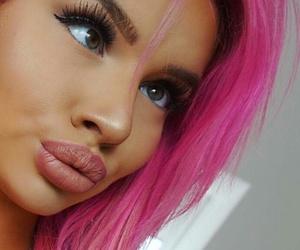 crazy, make-up, and pink image