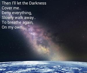 Darkness, stars, and disturbed image
