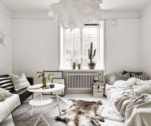 apartment, interior, and Scandinavian image