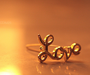 love, ring, and gold image