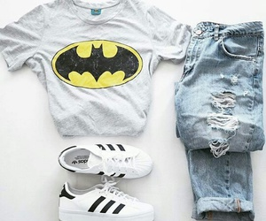 fashion, batman, and adidas image