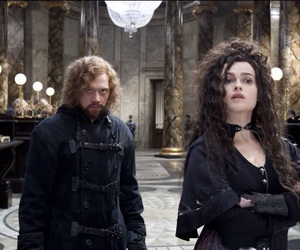 harry potter, bellatrix lestrange, and ron weasley image
