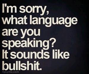 bullshit, quotes, and language image