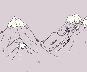 aesthetic, art, and mountains image