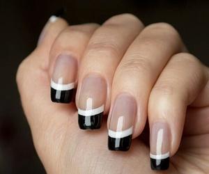 nails, french nails, and nail art image