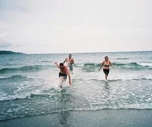happy, sea, and beautiful image