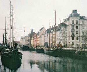 city, boat, and vintage image