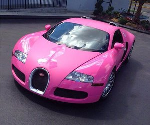 car, pink, and bugatti image