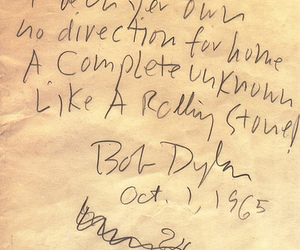 bob dylan, words, and writing image