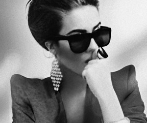 black and white and sunglasses image