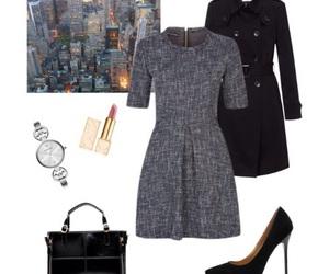 bag, black, and coat image