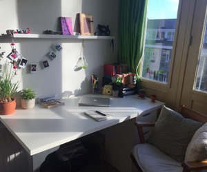 desk, room, and studyblr image