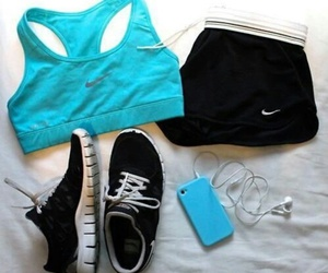 nike, blue, and sport image
