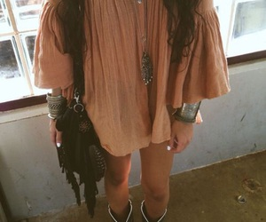 boho, dress, and hippie image