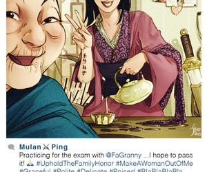 disney, mulan, and instagram image
