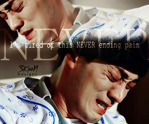 Korean Drama, never, and pain image
