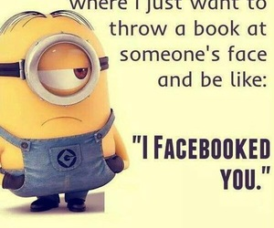 funny, minions, and facebook image