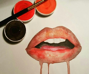 art, mouth, and paint image