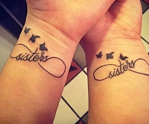 sisters, tattoo, and bird image