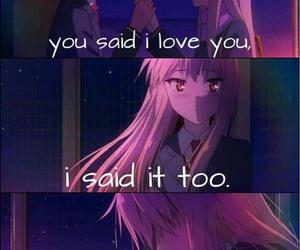 anime quotes, anime, and anime couple image