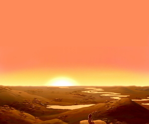 africa, canvass, and sunrise image