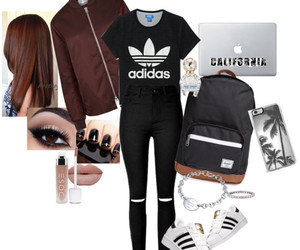adidas, casual, and clothing image